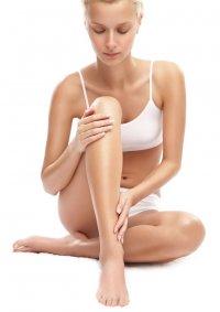 po laserowej depilacji nóg